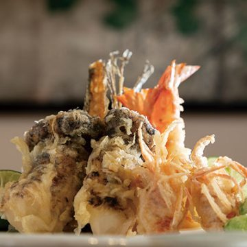 天ぷら 天鯱<br>松茸天ぷらコース