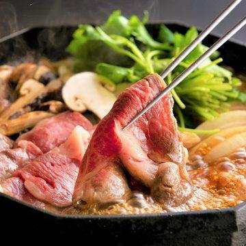 日本料理 呉竹<br> 松阪牛と松茸のすき焼きコース