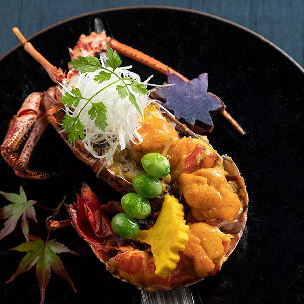 リニューアル1周年記念コース<br>旬の伊勢海老と松茸の美味秋会席